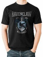 Ravenclaw Crest Varsity Official Harry Potter Hogwarts Black Mens T-shirt