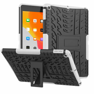 Shockproof Hybrid Rugged Armor Grip Rubber Hard Stand Case Cover For Apple iPad