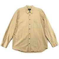 Eddie Bauer Shirt Mens Size XLT XL Tall Yellow Long Sleeve Button Front Cotton