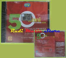 CD 50 ANNI DI CANZONI ITALIANE 10 compilation PROMO 2000 MORANDI RUGGERI (C8)