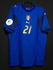 2006 Italy Home Retro Soccer Jersey #21 Pirlo