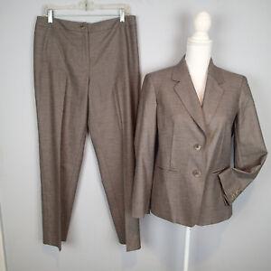 JONES NEW YORK Pant Suit Career Business sz 10p/12p blazer jacket stretch h7
