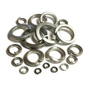 M16 SPRING WASHERS SQUARE SECTION A4 MARINE GRADE STAINLESS STEEL COIL SPIRAL