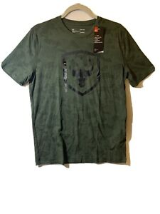 Under Armour Men's UA Project Rock Graphic Army Green Shirt S 1320051-330