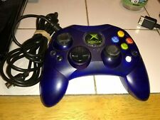 Original Xbox Controller S Wired Blue Official OEM See pictures Tested Works