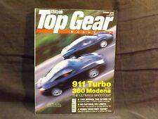 TOP GEAR MAGAZINE ISSUE 83 AUGUST 2000. FERRARI 360 MODENA vs PORSCHE 911 TURBO.