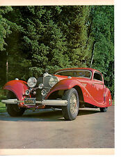 1936 MERCEDES-BENZ TYPE 540K ~ ORIGINAL 5-PAGE 1969 ARTICLE / AD