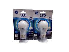GE LED Lightbulb 60W Uses 11W A19 800 Lumens 2 Pack