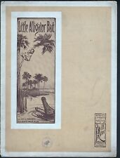 Little Alligator Bait 1918 Large Format Sheet Music