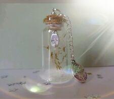 Fairy dust bottle, dandelion seeds, wish white sparkle dust, follow your dreams