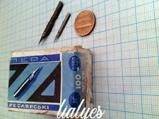 Soviet ink pens for sketching # 2350 . 51 nibs + original box .Vintage 60s .