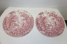 The Hunter by Myott Hand Engraved Hand Painted Dinner and Salad Plates Set of 2