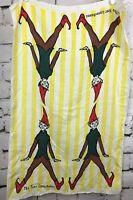 "Vintage Irish Linen Unused Four Leprechauns Dish Hand Towel~ John Morgan 19x31"""