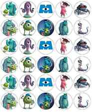 Monsters Inc Mike And Sully Cupcake Topper Edible Wafer Paper BUY 2 GET 3RD FREE