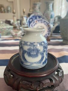 Antique Chinese Blue And White Ink Pot
