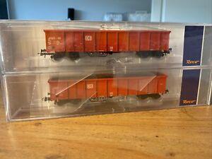 Roco 76726 H0 DC 2er Set Eanos DB-AG mit Schrottladung offene Güterwagen