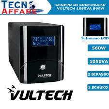 Gruppo di Continuità UPS 1050VA 560W Stabilizzatore Pc DVR Vultech UPS1050VA-PRO