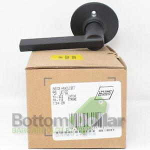 Schlage F59 LAT 622 12-322 Latch Latitude Lever Interior Handleset Matte Black
