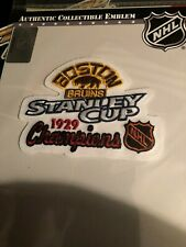 1929 NHL Stanley Cup Champions Boston Bruins Commemorative Patch
