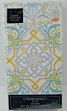 Cynthia Rowley Set of 4 Napkins Medallions 100% Cotton