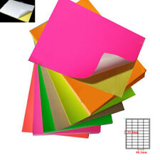 Office Paper Colorful A4 Adhesive Label Sticker Printable Paper Inkjet Laser Lot