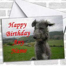 Deerhound Dog Birthday Customised Card