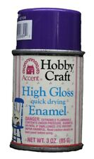 Accent Hobby Craft High Gloss Quick Drying Enamel Purple Aster 3oz Can #689