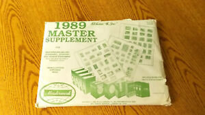H.E. HARRIS 1989 Master Worldwide supplement BRAND NEW-FACTORY SEALED  MB/D