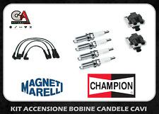 Kit accensione bobine candele cavi Fiat Punto (188) 1.2 8V Panda Doblò Ypsilon