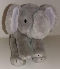 "Ty Beanie Buddies Spout Grey Elephant Plush Stuffed Animal 12"" Jungle Zoo"