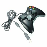 Black USB Wired Xbox 360 Controller Game Pad For Microsoft Xbox 360 PC Windows