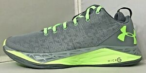 UA BGS Fire Shot Low Gry/Lm Running Shoe US Youth Size 6.5Y 1279652-035