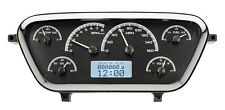 Dakota Digital 53 54 55 Ford Pickup Analog Gauges Kit Black White VHX-53F-PU-K-W