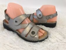 Finn Comfort Gomera Silver Women's Leather Sandals Size 35 4-5
