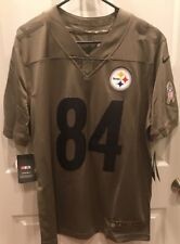 Nike Pittsburgh Steelers Antonio Brown Salute to Service Jersey Mens Medium f0d408e76