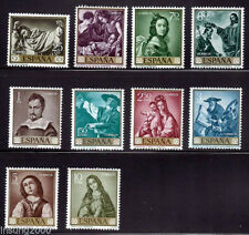 Spain Stamps - 1962 Stamp Day & Zurbaran In Mint Condition Set Of 10