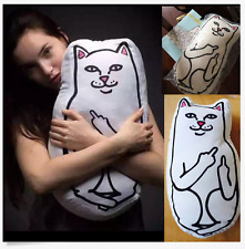 Ripndip Cute Pussy Cat Cushion Lord Nermal Hugging Body Pillows Boyfriend Doll!~