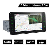 Universelles 1DIN Autoradio 6,2 Zoll Touchscreen GPS Navi WiFi 8 Core Video Auto