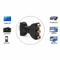 HDMI Male to 3 RCA Female Composite AV Audio Video Adapter Converter for TV New
