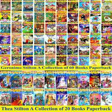 Geronimo Stilton Series Books 60 Paperbacks+Thea Stilton 20 Books Collection Set