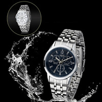 Luxury Women Analog Waterproof Stainless Steel Watches Quartz Date Wrist Watch
