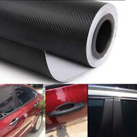 3D Car Interior Accessories Panel Black Carbon Fiber Vinyl Wrap DIY Sticker YU