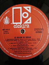 """BREAD LO MEJOR DE BREAD LP 12"""" VINILO VINYL G+ 1972 ELEKTRA SPAIN SOLO EL VINILO"""
