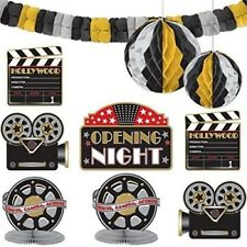 MOVIE ROOM DECORATING KIT Hollywood Party Decorations Streamers Table Wall Film