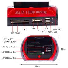 More details for uk mobile hdd docking station 2.5″/3.5″ ide+sata usb dual hard drive card reader
