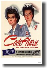 Be a Cadet Nurse - The Girl with a Future -  NEW Vintage WW2 Art Print POSTER
