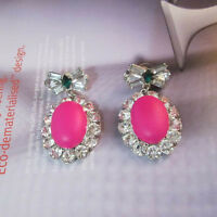 NEW NEW Urban Anthropolo​​gie Azelia Pink Drop Bowtie Earrings
