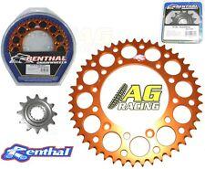 Renthal Front Sprocket 13T Rear Orange 52T KTM XC-F 505 08-12 EXC 520 00-02