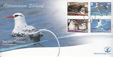 Ascension Island 2011 FDC Red-billed Tropicbird 4v Set Cover Birds WWF Nest