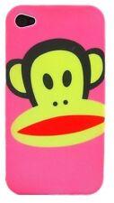 cover custodia rigida Iphone 4 4S  nuova versione logo scimmia PINK ROSA NEW